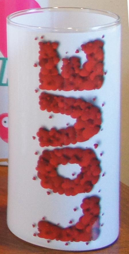 Valentine's Day Vase Wrap 'LOVE' FMC 3032