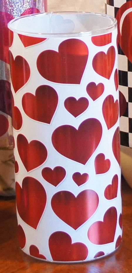 Valentine's Day Vase Wrap Cluster Hearts FMC 3118
