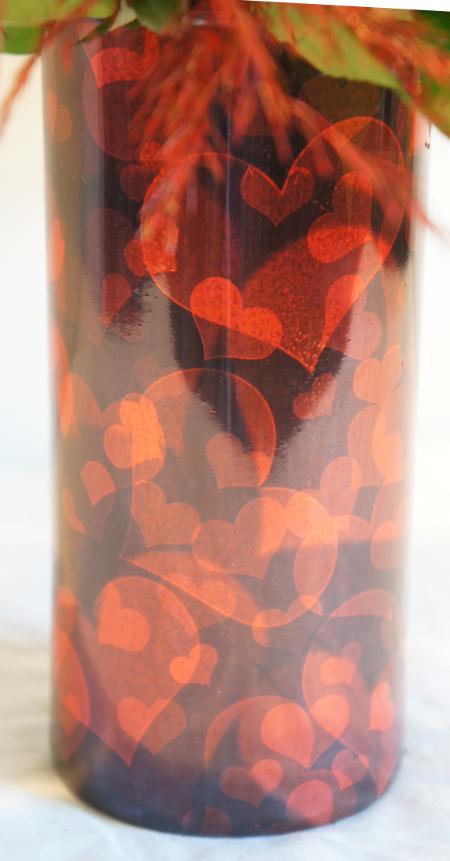 RED GLITTER HEARTS FMC 3117