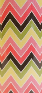 Pink, Green, Black Chevron FMC 3069