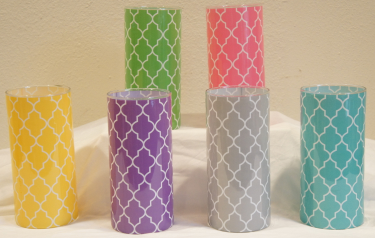 Quatrefoil Shrink Wrap Decorative Vase Sleeve Collection