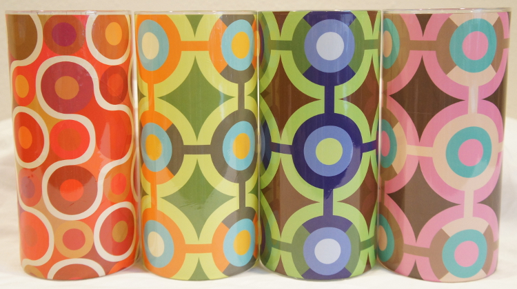 Mod Circles Shrink Wrap Decorative Vase Sleeve Collection