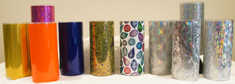 Florist Mercantile Company - Mixed Glitter, Holographic & Metal Shrink Wrap Decorative Vase Sleeves