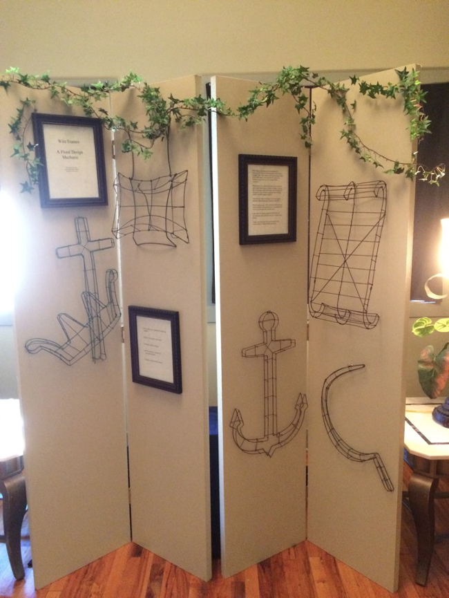 A sample of wire frames from the Leyes Collection housed at Mississippi State University.  These antique floral mechanics were used as based for designs from the 1860s well into the 20th century.