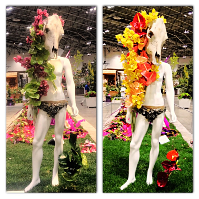 "Floral Art installation From Canada Blooms 2014 To The Theme ""Wild""."